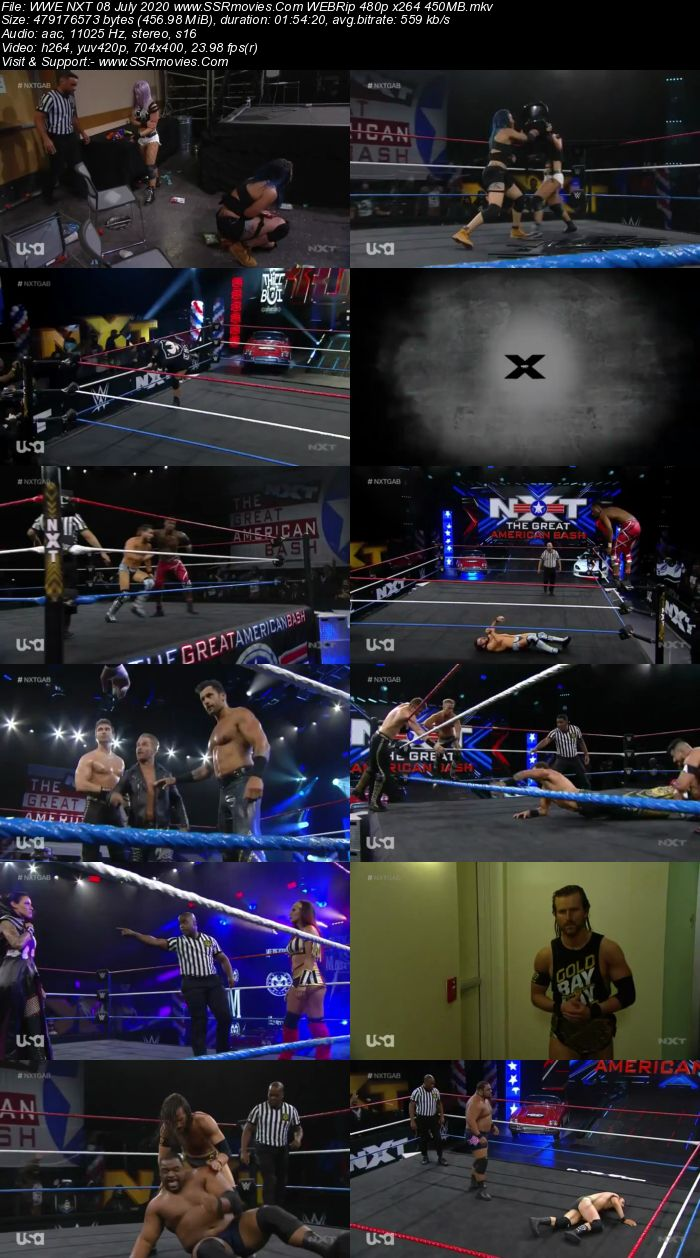WWE NXT 8 July 2020 HDTV 480p Full Show Download