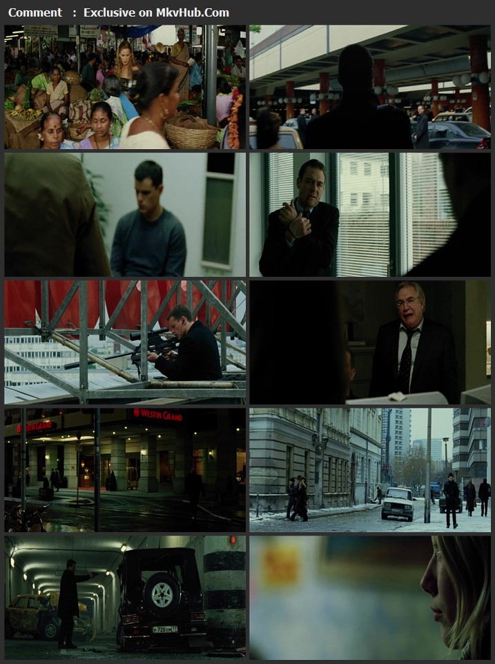 The Bourne Supremacy 2004 Dual Audio [Hindi-English] 720p BluRay 850MB Download