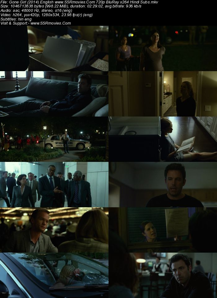 Gone Girl (2014) English 720p BluRay x264 950MB Full Movie Download