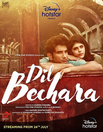 Dil Bechara 2020 Hindi 1080p WEB-DL 1.6GB ESubs