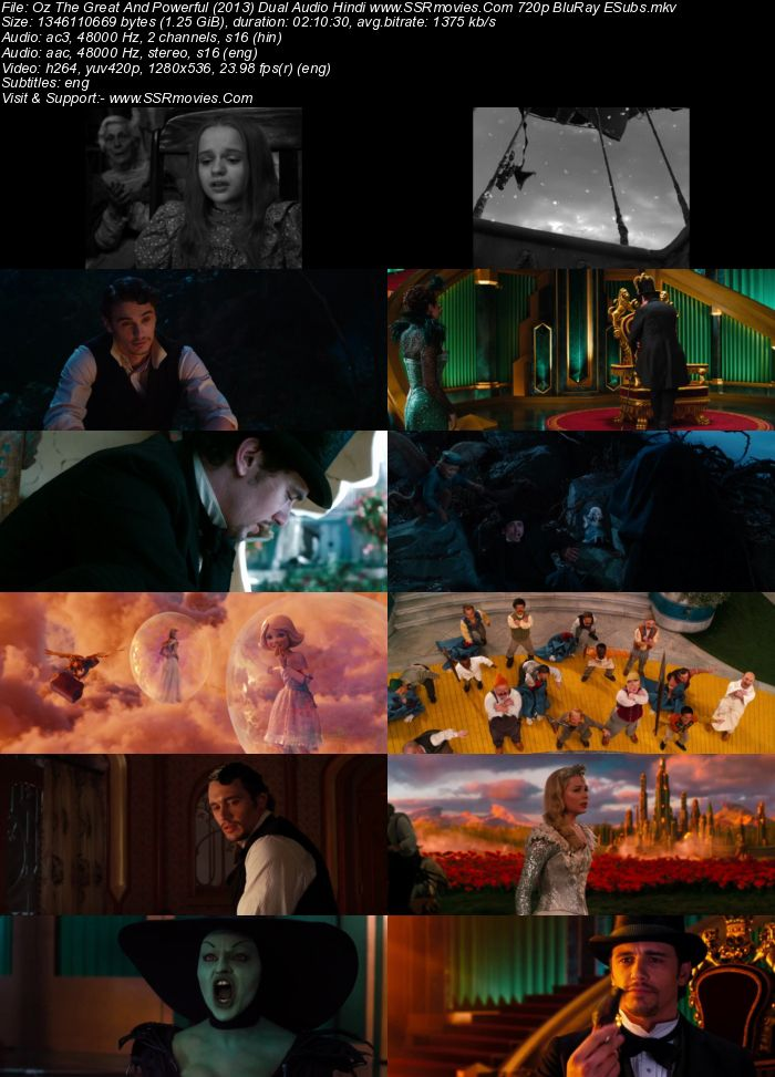 Oz the Great and Powerful (2013) Dual Audio Hindi 480p BluRay 400MB Full Movie Download