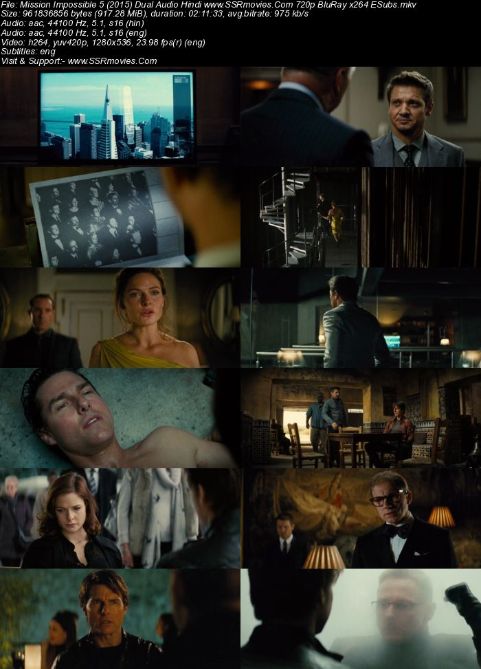 Mission: Impossible - Rogue Nation (2015) Dual Audio Hindi 720p BluRay x264 900MB Full Movie Download