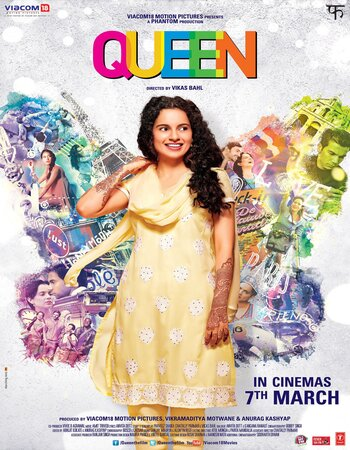 Queen (2013) Hindi 720p BluRay 1.2GB Full Movie Download