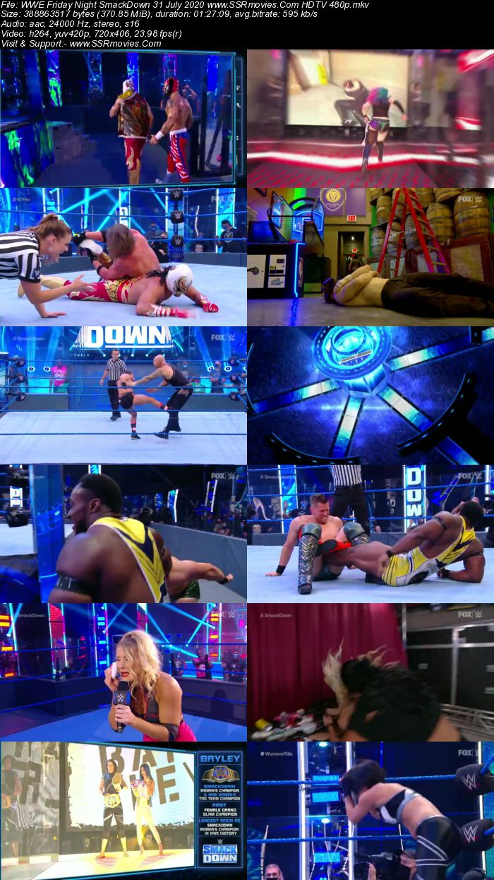 WWE Friday Night SmackDown 31 July 2020 Full Show Download
