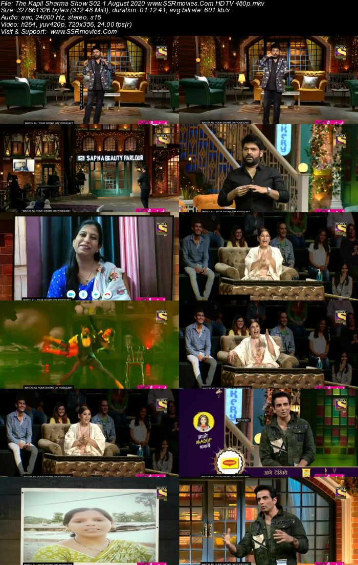 The Kapil Sharma Show S02 1 August 2020 Full Show Download HDTV HDRip 480p 720p