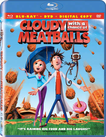 Cloudy with a Chance of Meatballs (2009) Dual Audio Hindi 300MB BluRay 480p Download