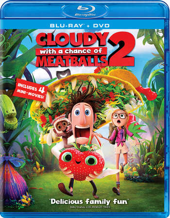 Cloudy with A Chance Of Meatballs 2 (2013) Dual Audio Hindi 300MB BRRip 480p ESubs