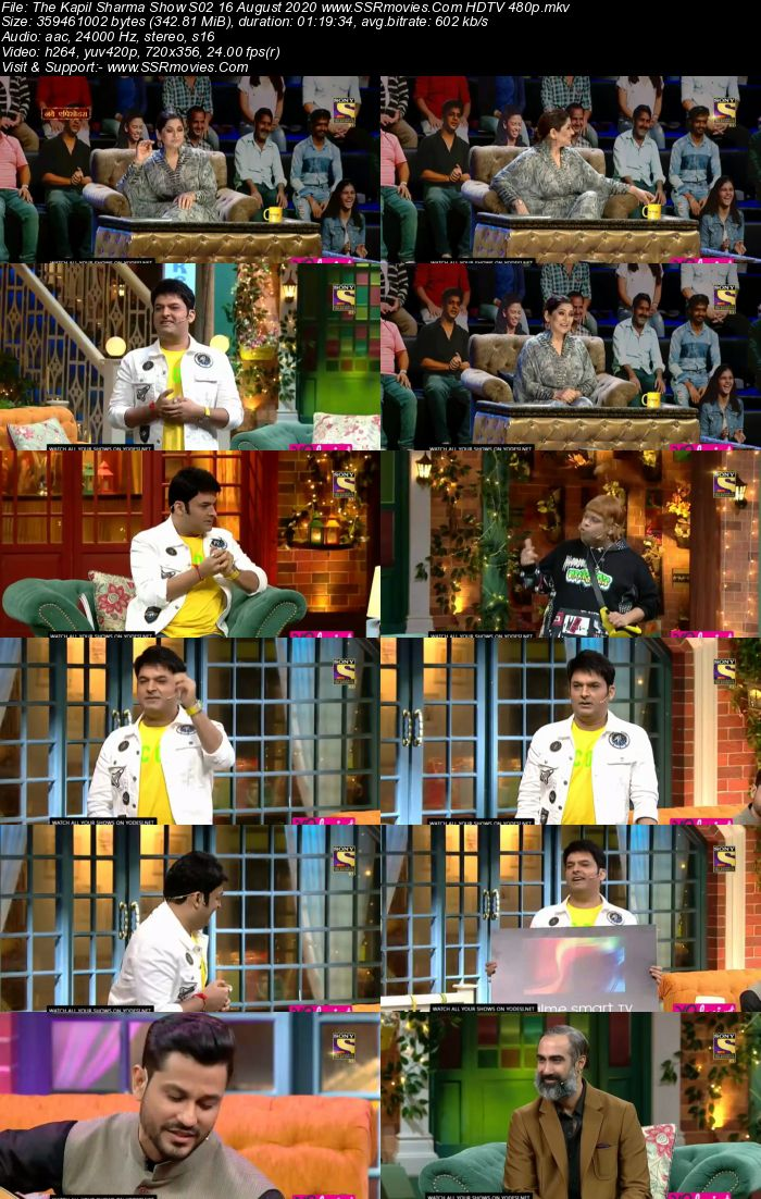 The Kapil Sharma Show S02 16 August 2020 Full Show Download HDTV HDRip 480p 720p