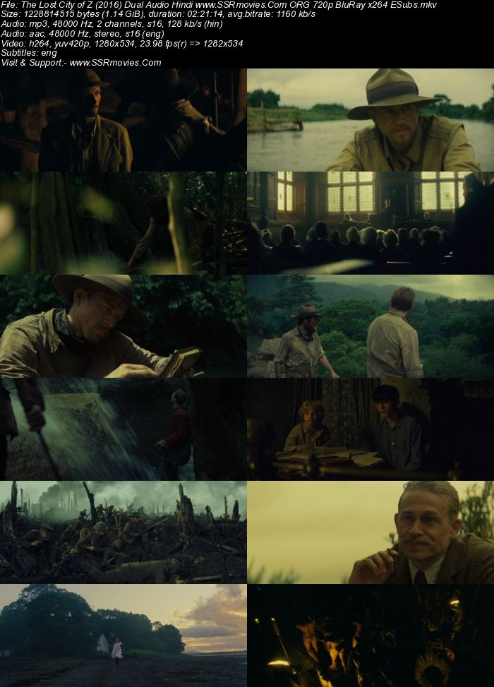 The Lost City of Z (2016) Dual Audio Hindi 480p BluRay 400MB ESubs Full Movie Download