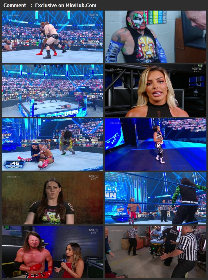 WWE Friday Night SmackDown 21th August 2020 720p HDTV x264 750MB Download