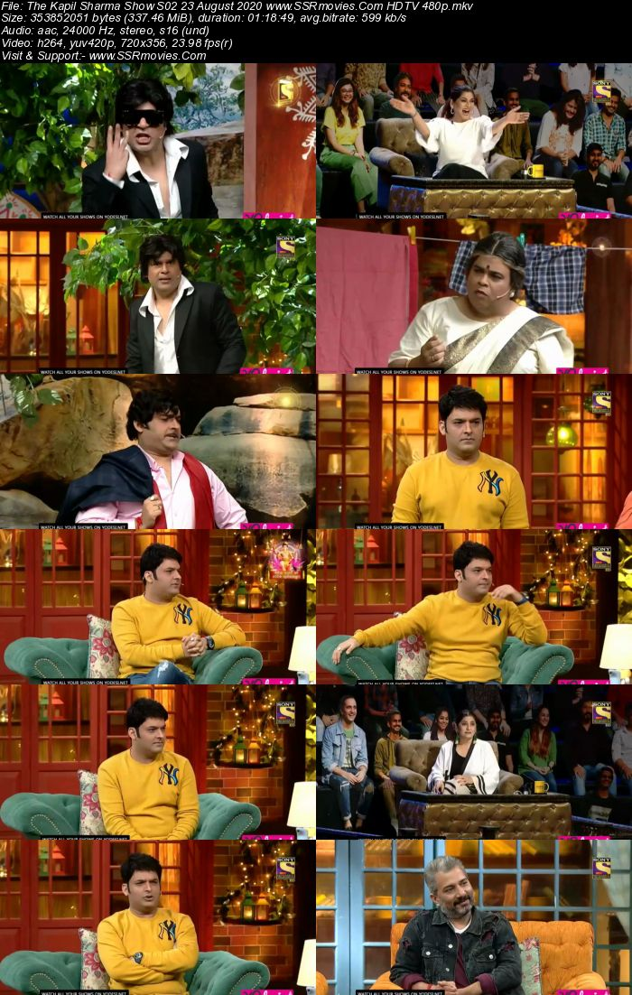 The Kapil Sharma Show S02 23 August 2020 Full Show Download HDTV HDRip 480p 720p
