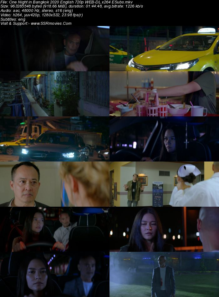 One Night in Bangkok (2020) English 720p WEB-DL x264 900MB Full Movie Download