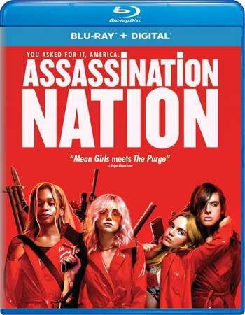 Assassination Nation (2018) Dual Audio Hindi 480p BluRay 350MB ESubs Full Movie Download
