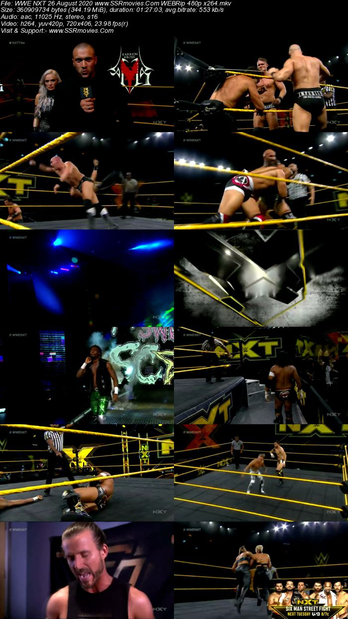 WWE NXT 26 August 2020 HDTV 480p Full Show Download