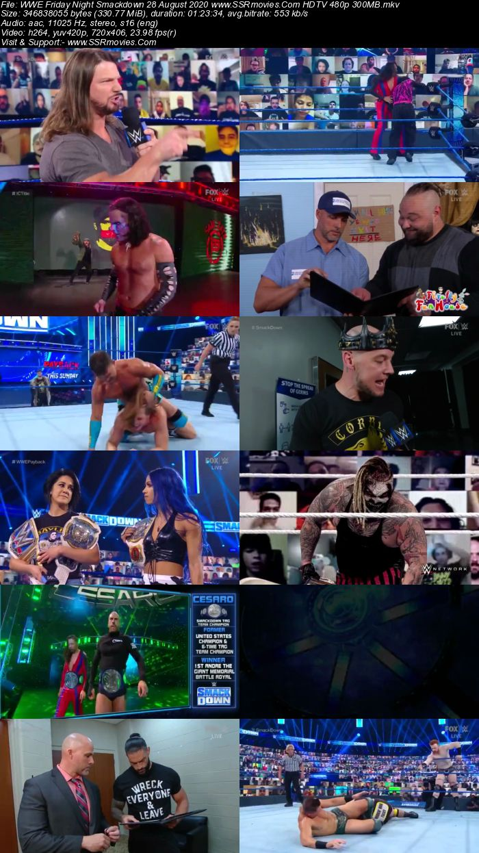 WWE Friday Night SmackDown 28 August 2020 Full Show Download