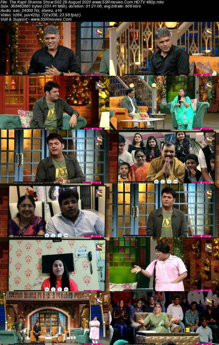 The Kapil Sharma Show S02 29 August 2020 Full Show Download HDTV HDRip 480p 720p