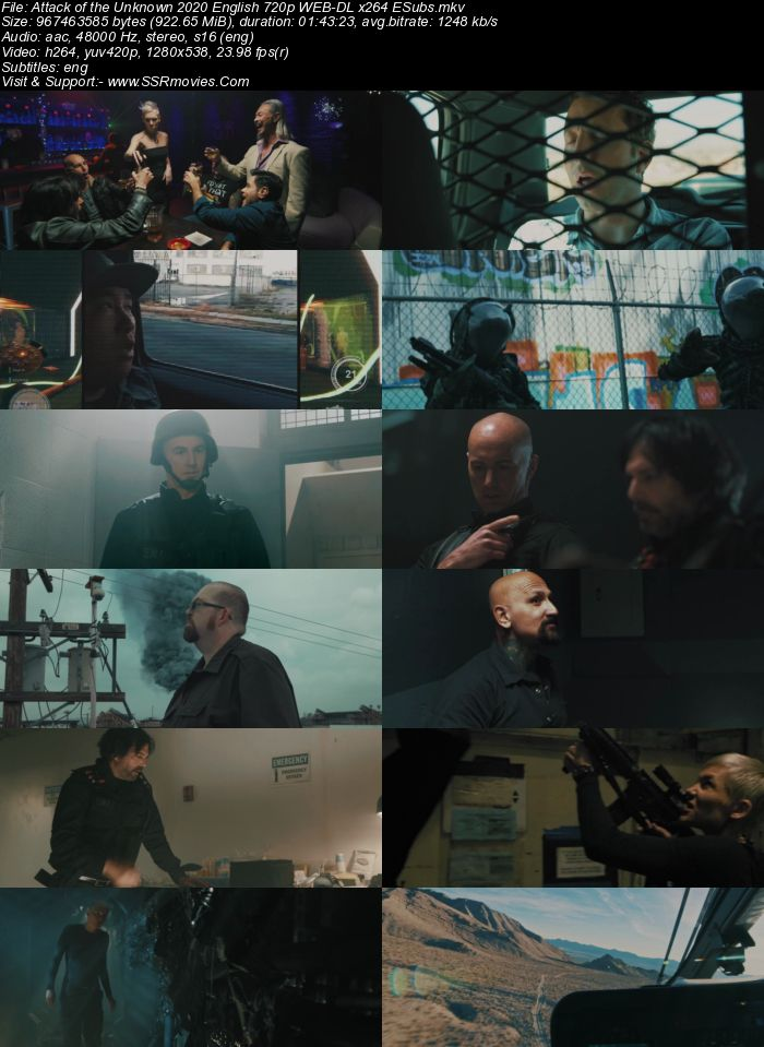 Attack of the Unknown (2020) English 720p WEB-DL x264 900MB Full Movie Download