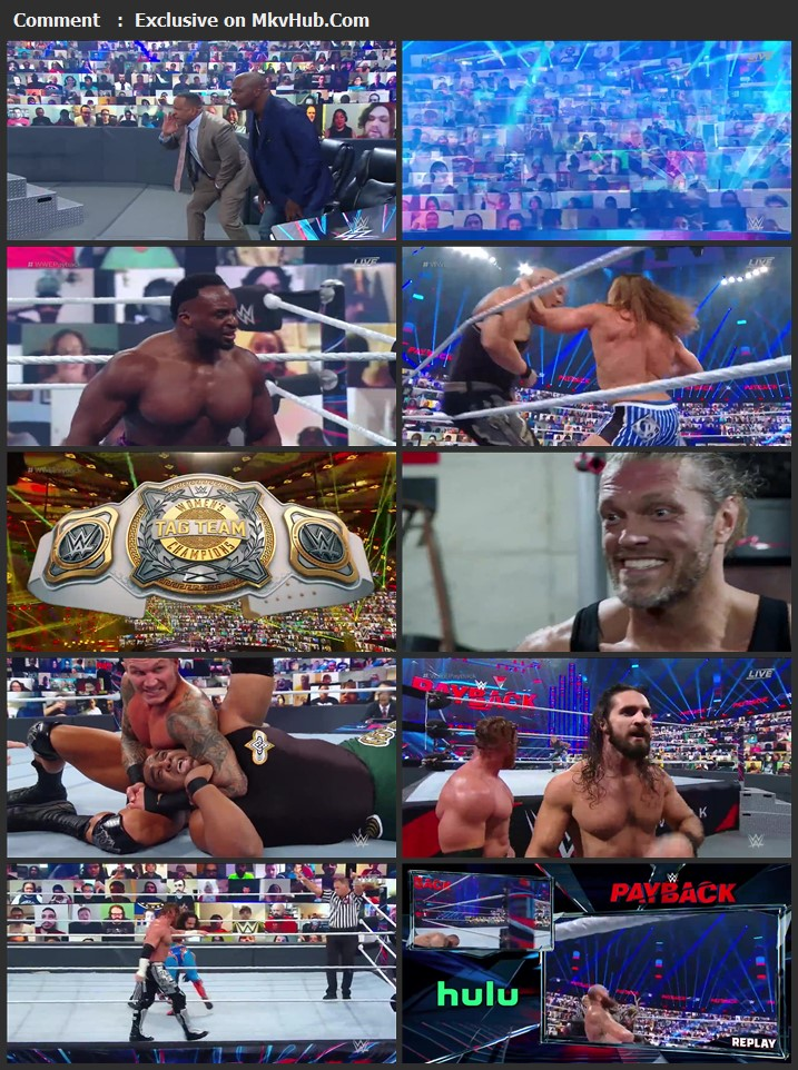 WWE Payback 2020 720p PPV WEBRip x264 1.3GB Download