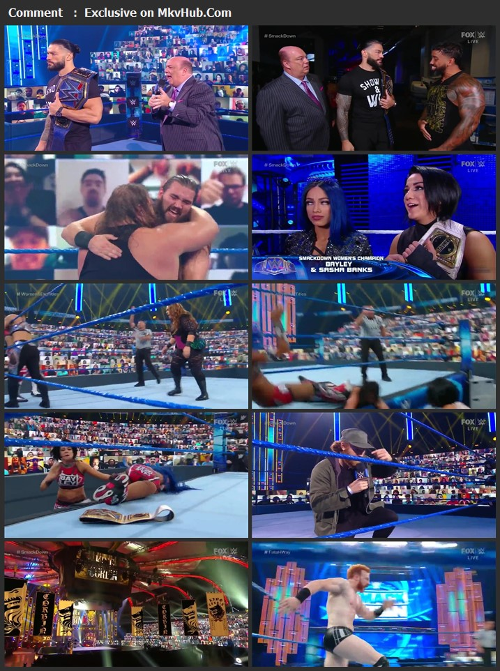 WWE Friday Night SmackDown 04 September 2020 720p HDTV x264 750MB Download