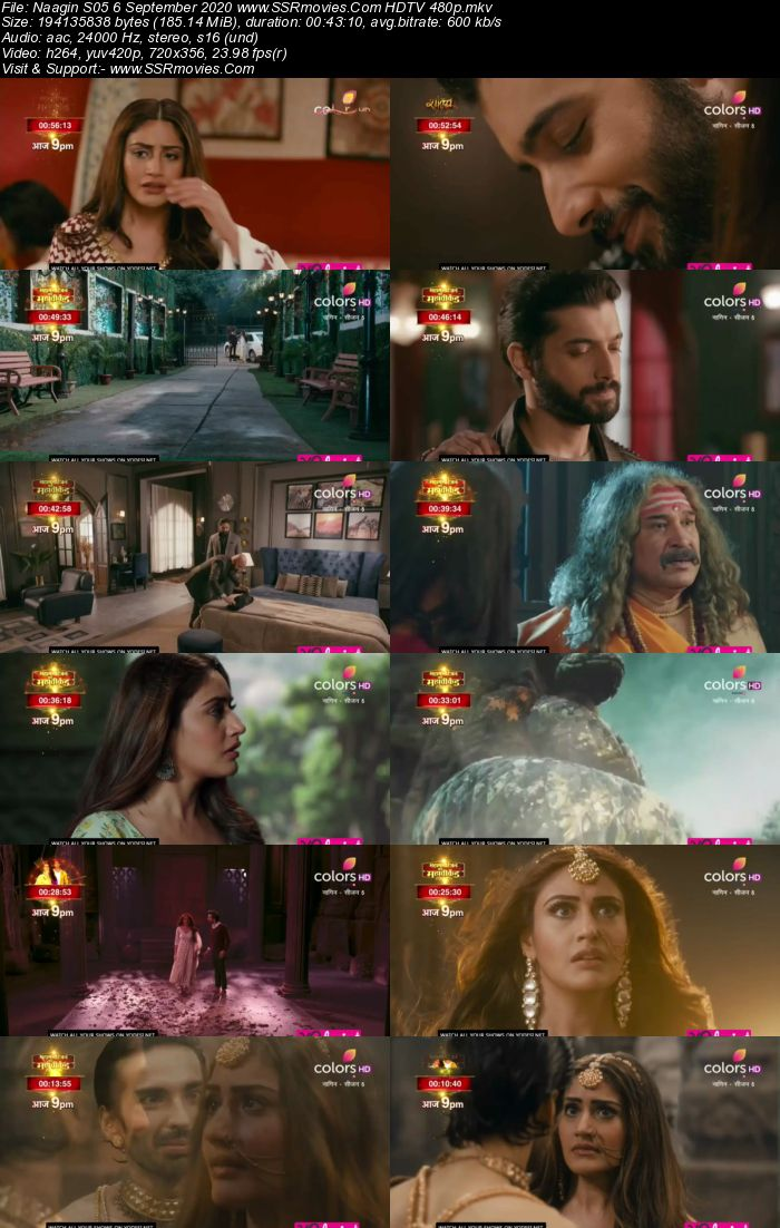 Naagin 5 6th September 2020 HDTV 480p 720p 200MB Download