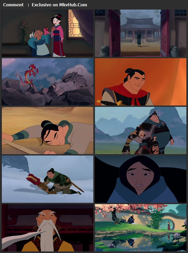 Mulan 1998 English 720p BluRay 1GB Download