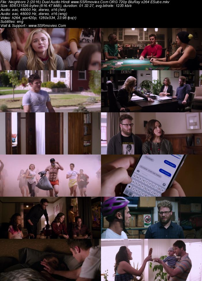 Neighbors 2: Sorority Rising (2016) Dual Audio Hindi 720p BluRay x264 800MB Full Movie Download