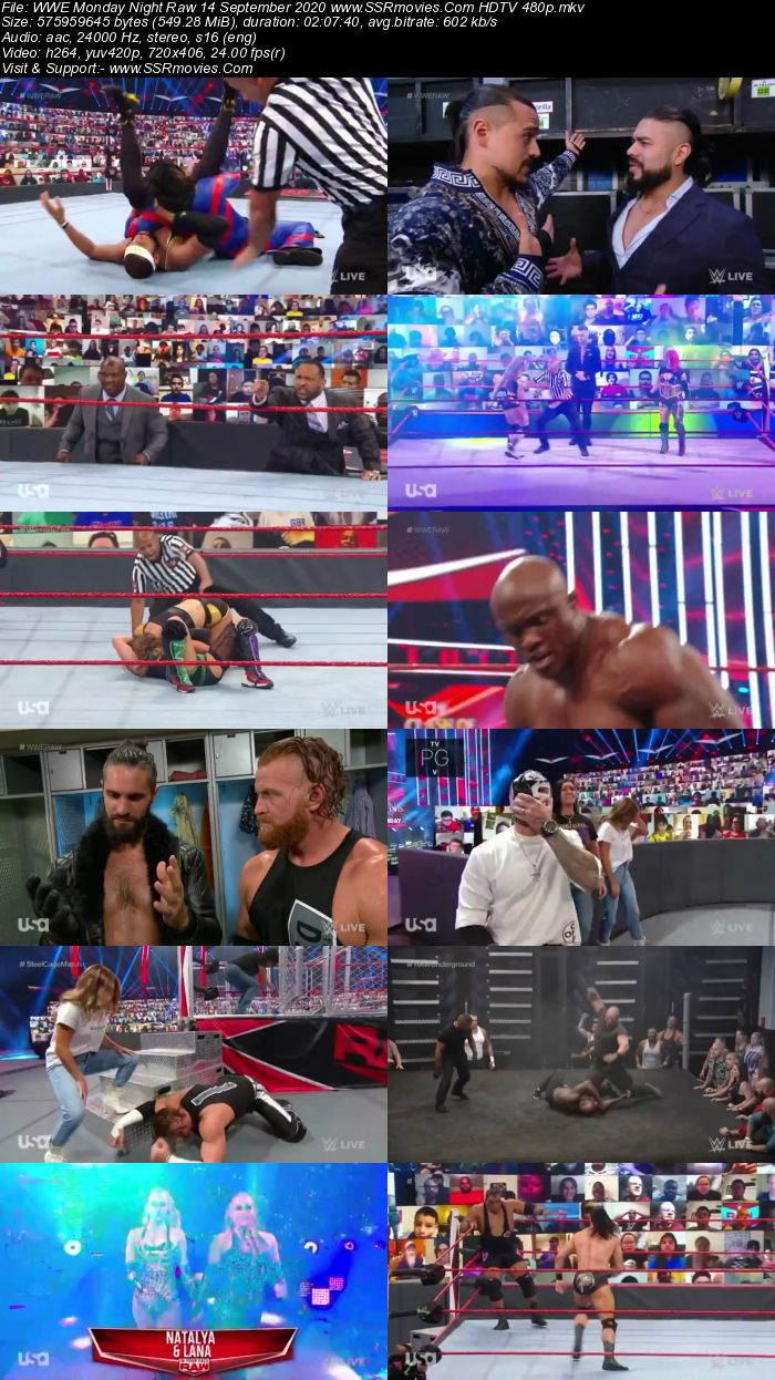 WWE Monday Night Raw 14 September 2020 Full Show Download