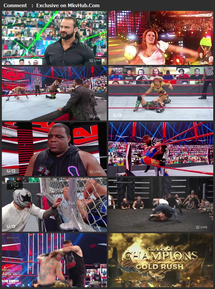 WWE Monday Night RAW 14 September 2020 720p HDTV x264 1.1GB Download