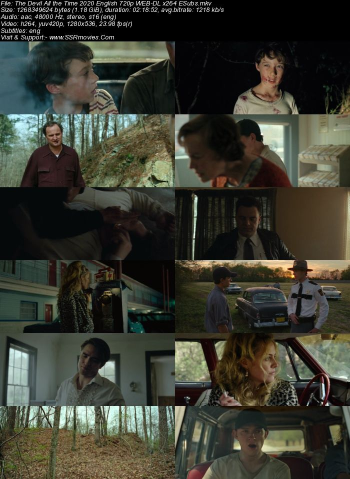 The Devil All the Time (2020) English 720p WEB-DL 1.2GB ESubs Full Movie Download