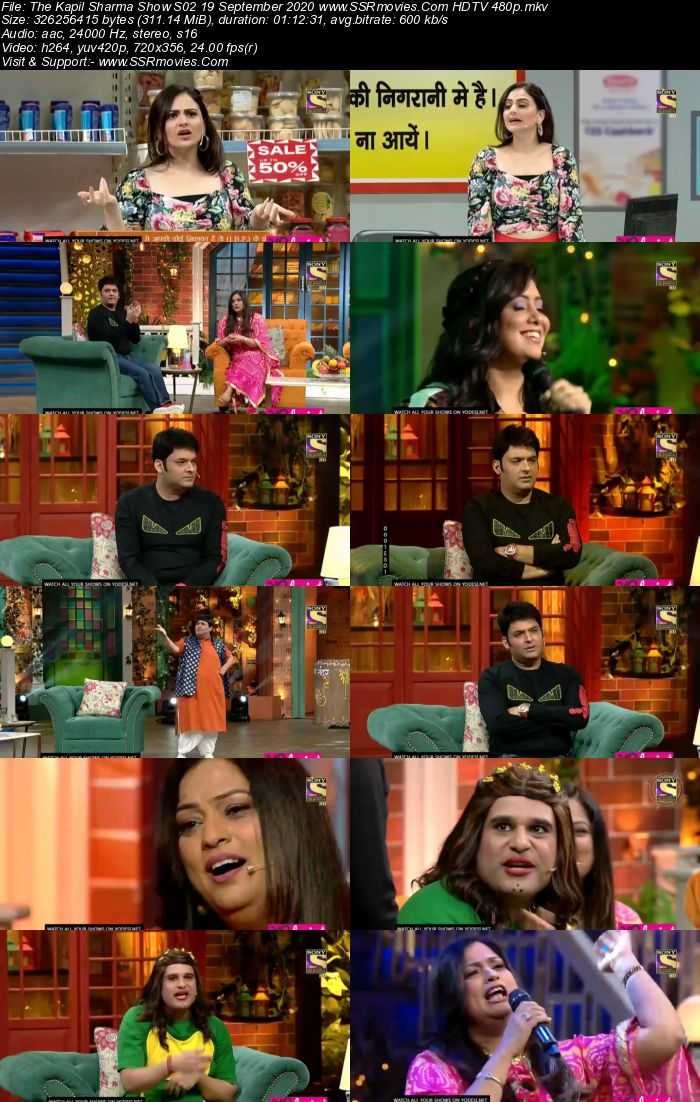 The Kapil Sharma Show S02 19 September 2020 Full Show Download HDTV HDRip 480p 720p