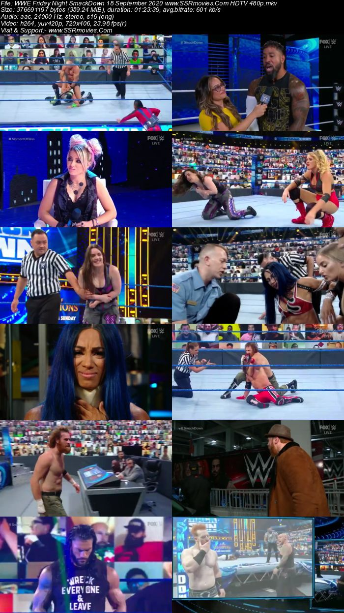 WWE Friday Night SmackDown 18 September 2020 Full Show Download