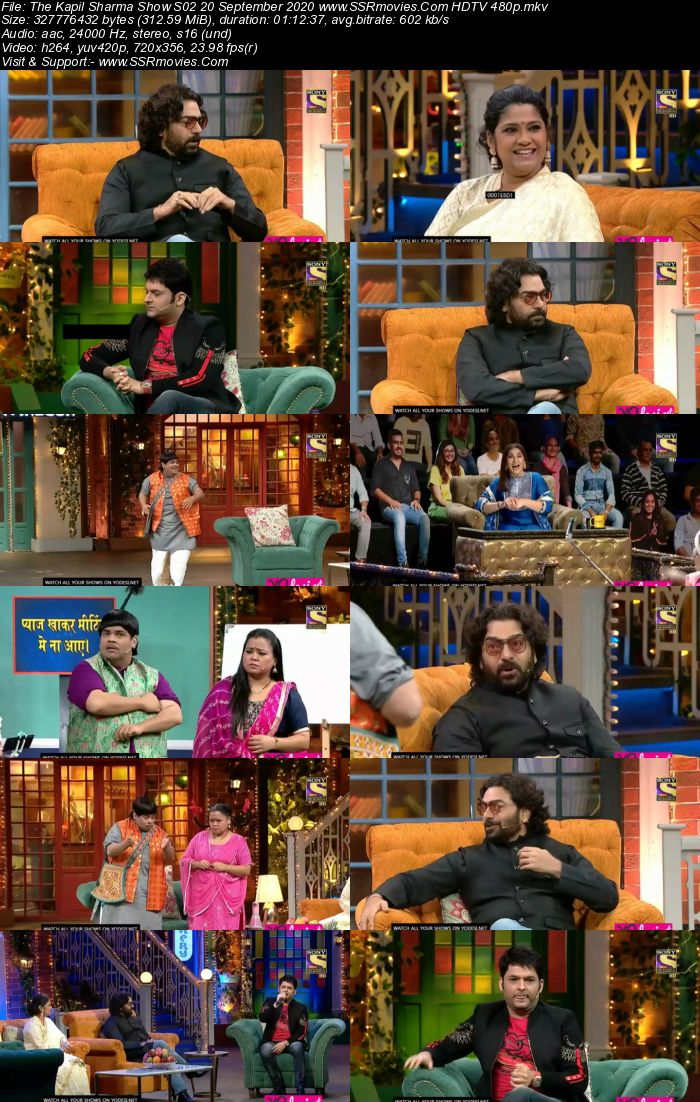 The Kapil Sharma Show S02 20 September 2020 Full Show Download HDTV HDRip 480p 720p