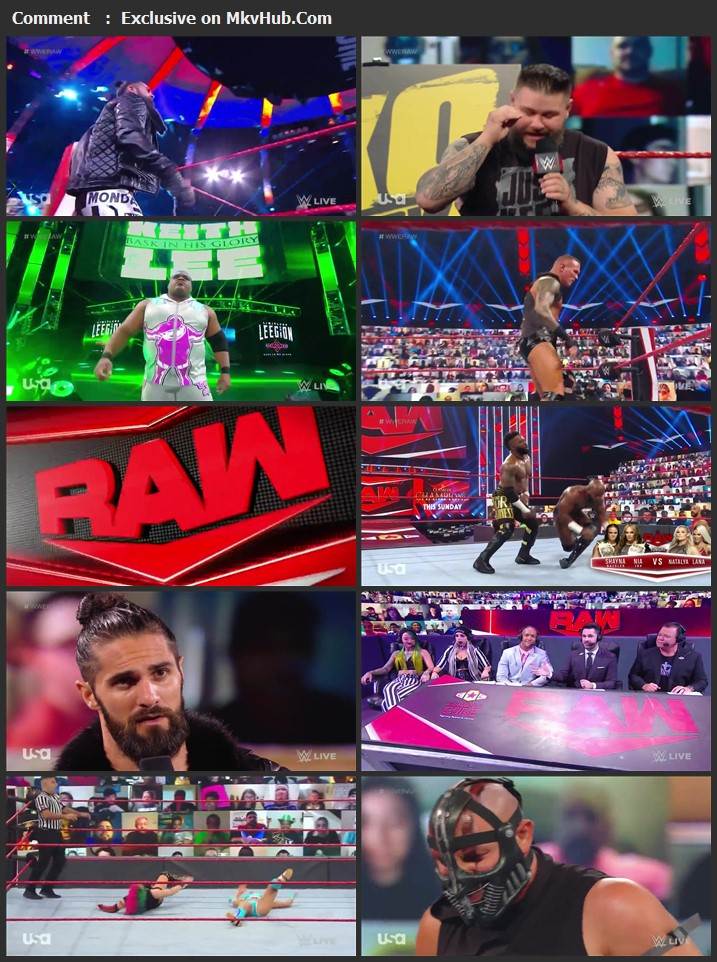 WWE Monday Night RAW 21 September 2020 720p HDTV x264 1.1GB Download