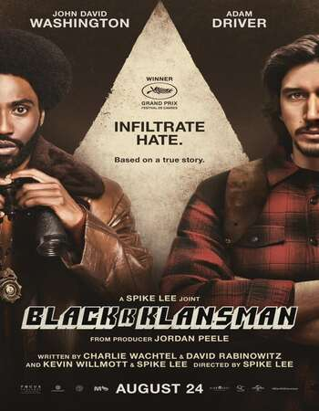 BlacKkKlansman 2018 Dual Audio [Hindi-English] 720p BluRay 1.2GB ESubs