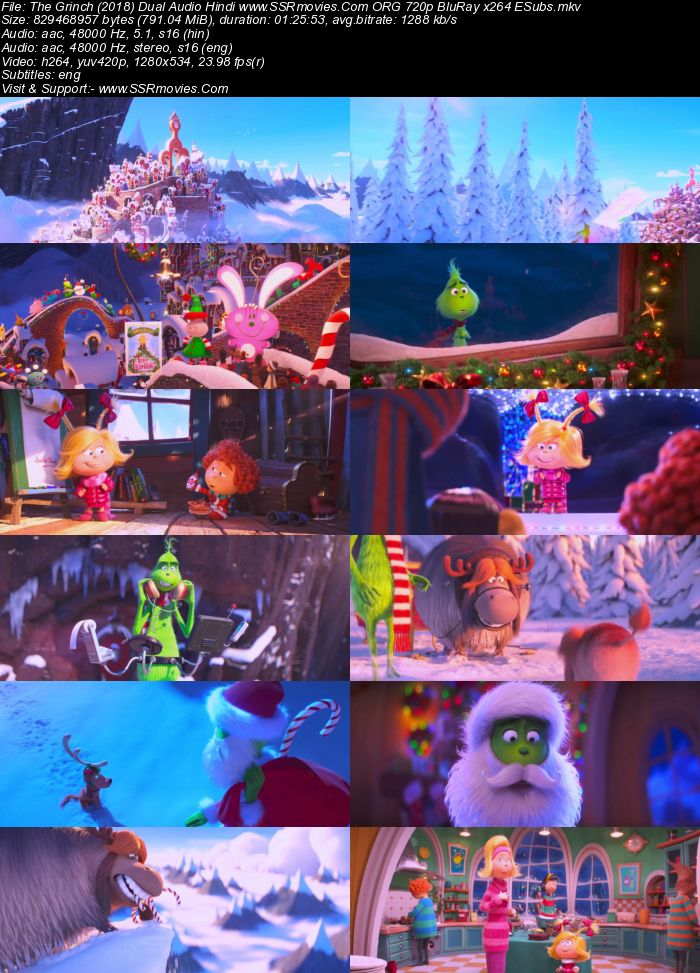 The Grinch (2018) Dual Audio Hindi ORG 480p BluRay 300MB ESubs Full Movie Download