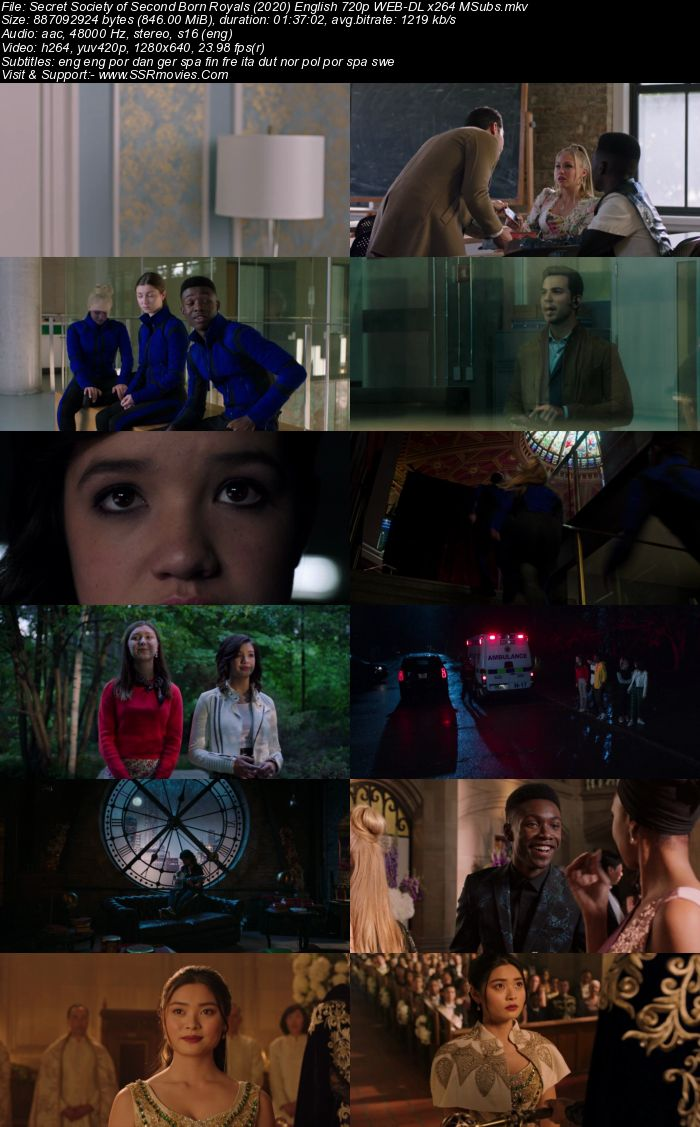 Secret Society of Second Born Royals (2020) English 480p WEB-DL 300MB Full Movie Download