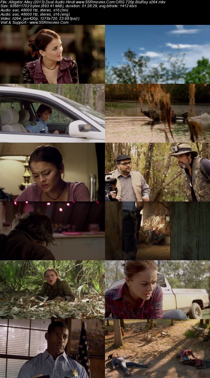 Alligator Alley (2013) Dual Audio Hindi 480p BluRay 300MB Full Movie Download