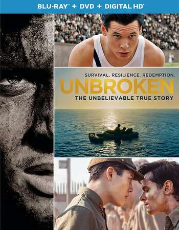 Unbroken (2014) Dual Audio Hindi 480p BluRay x264 450MB ESubs Full Movie Download