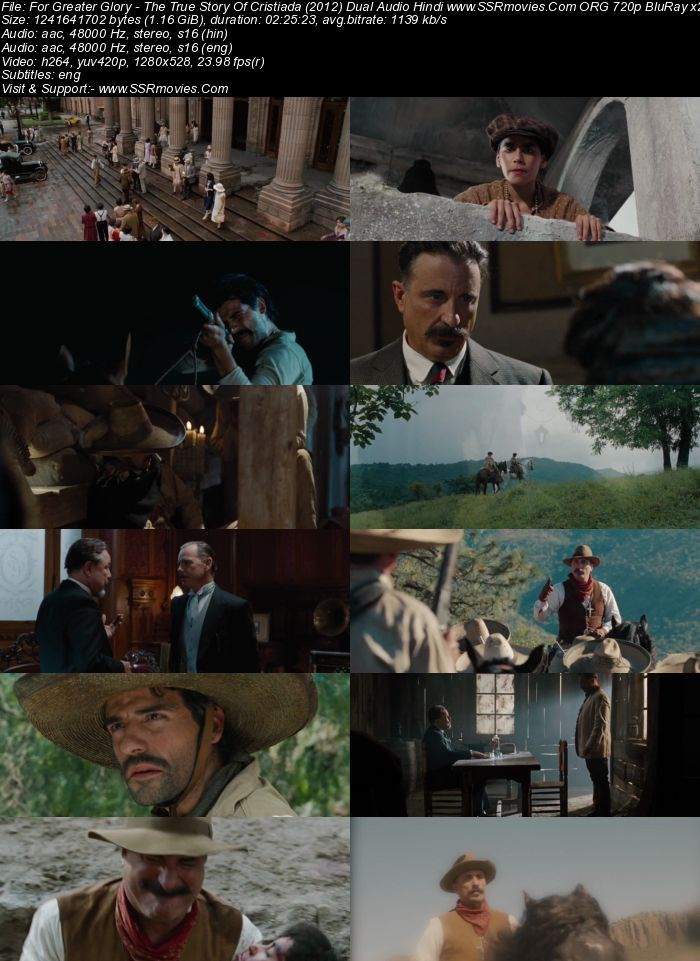 For Greater Glory: The True Story of Cristiada (2012) Dual Audio Hindi 720p BluRay x264 1.2GB Full Movie Download