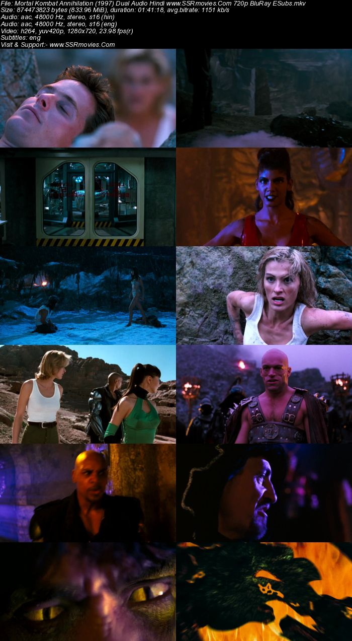 Mortal Kombat Annihilation (1997) Dual Audio Hindi 720p BluRay 800MB Full Movie Download