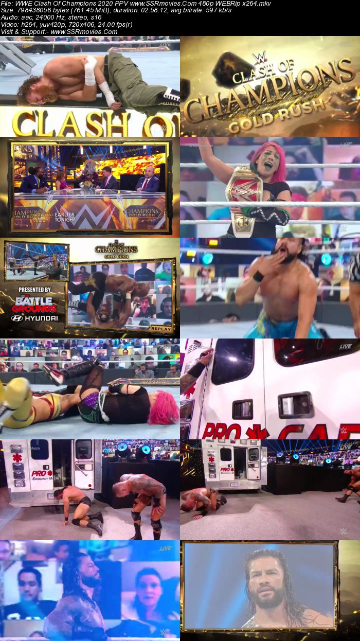 WWE Clash Of Champions 2020 PPV 480p 720p WEBRip x264 Download