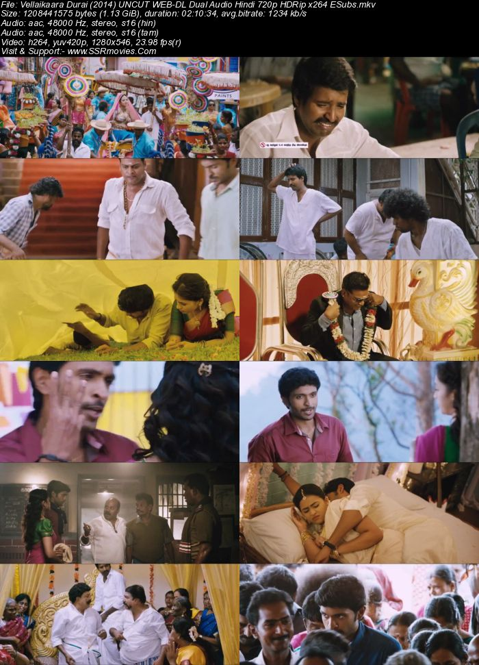 Vellaikaara Durai (2014) Dual Audio Hindi 480p HDRip 400MB ESubs Full Movie Download