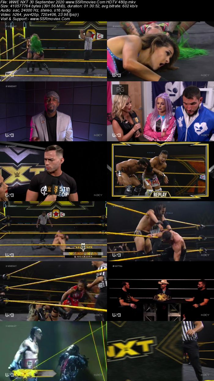 WWE NXT 30 September 2020 HDTV 480p Full Show Download