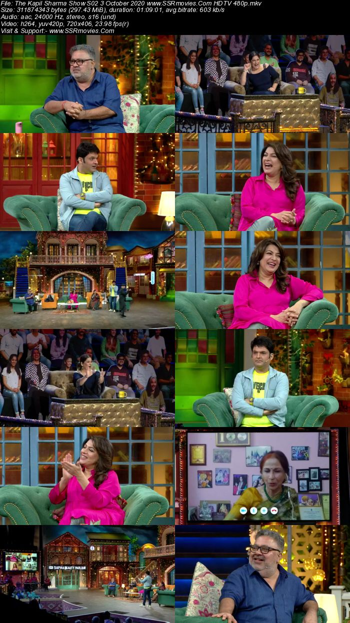 The Kapil Sharma Show S02 3 October 2020 Full Show Download HDTV HDRip 480p 720p
