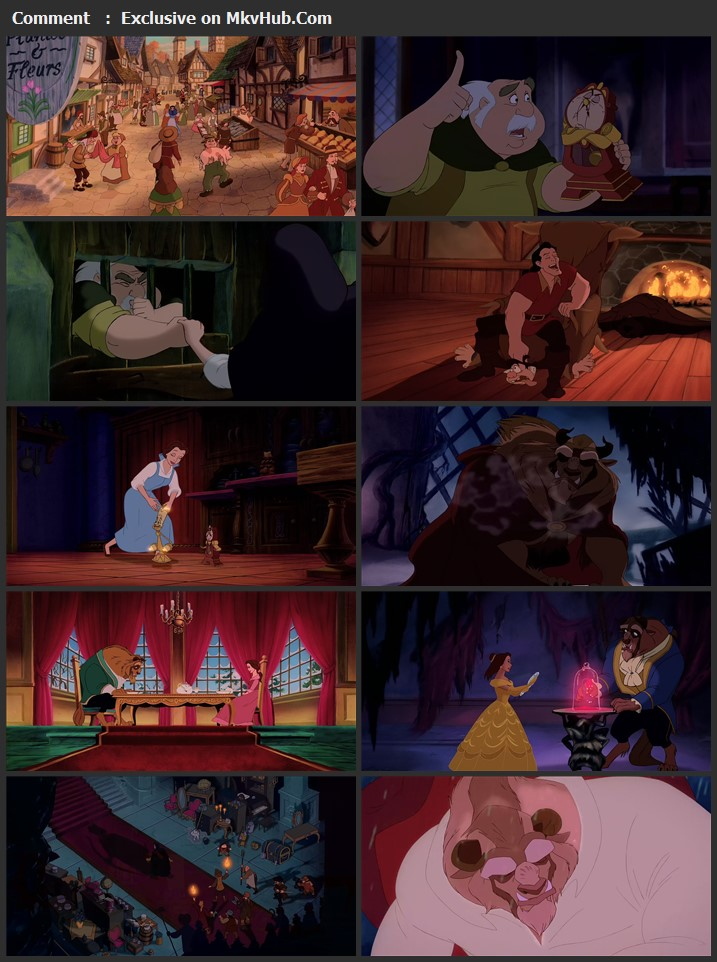 Beauty and the Beast 1991 English 720p BluRay 1GB Download