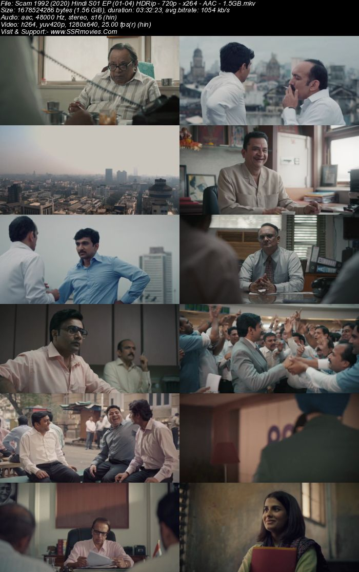 Scam 1992 (2020) S01 Hindi 480p 720p WEB-DL x264 1.5GB Download