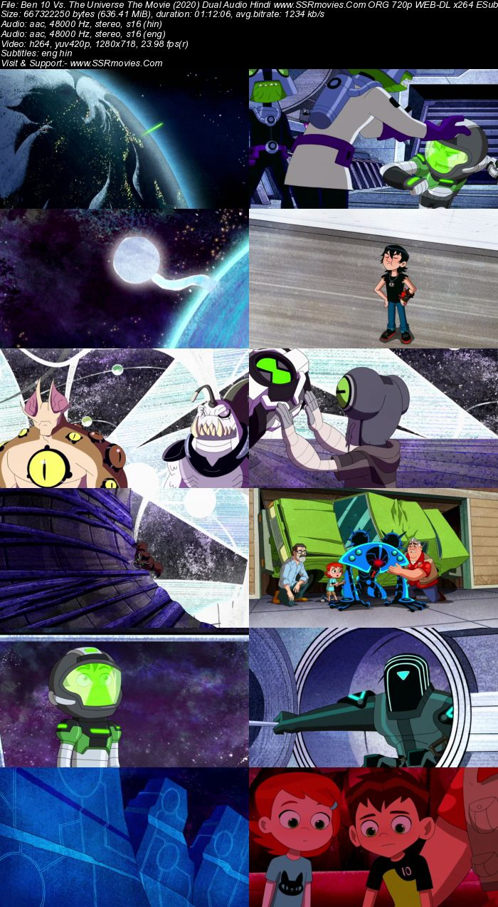 Ben 10 vs the Universe The Movie (2020) Dual Audio Hindi 480p WEB-DL 250MB Full Movie Download