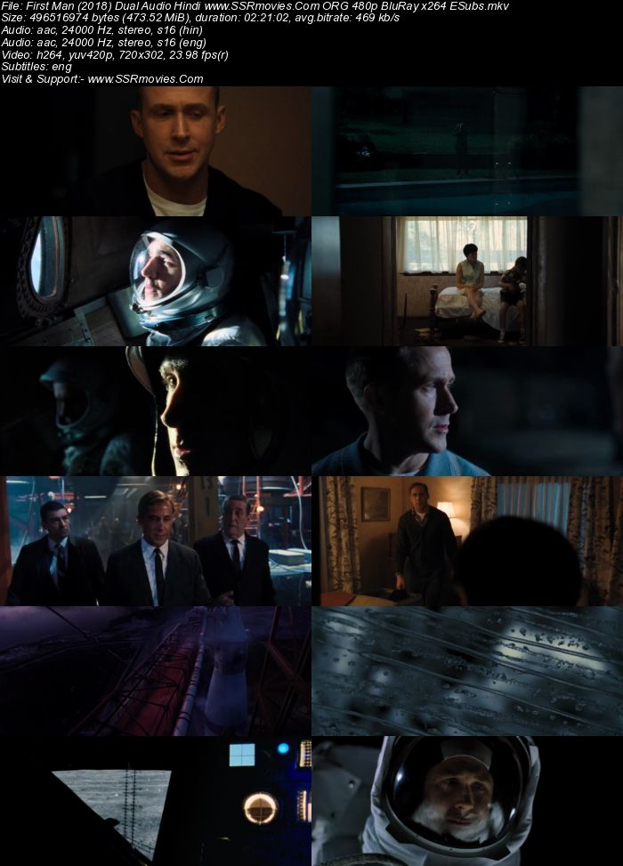 First Man (2018) Dual Audio Hindi 480p BluRay x264 450MB ESubs Full Movie Download