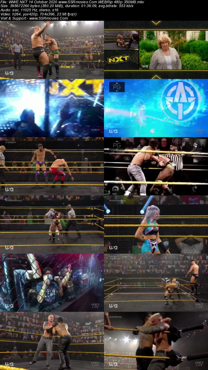 WWE NXT 14 October 2020 HDTV 480p Full Show Download
