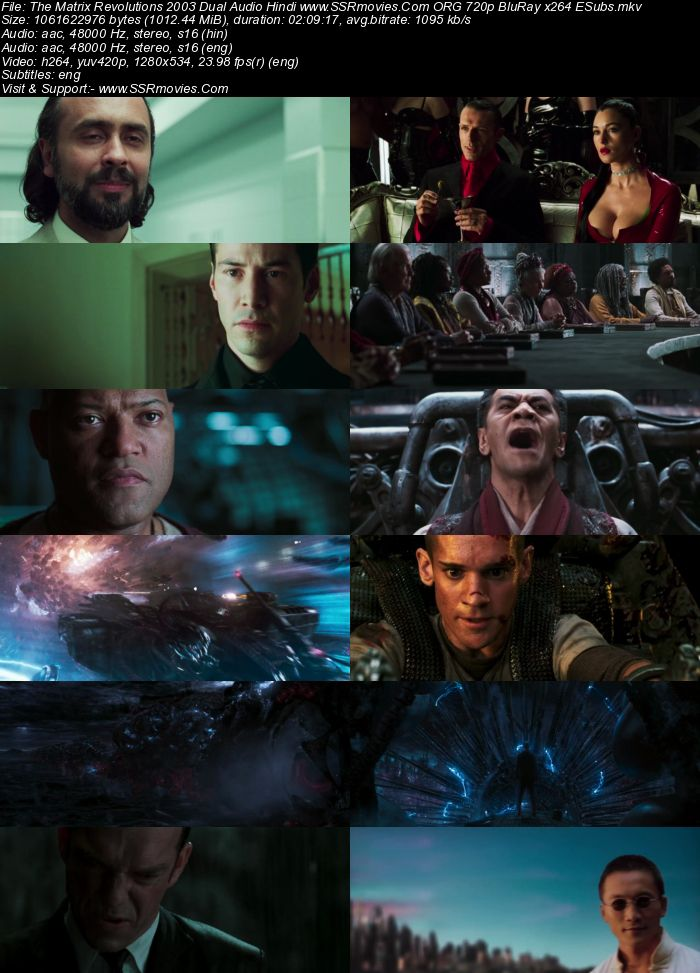 The Matrix Revolutions (2003) Dual Audio Hindi 480p BluRay 400MB ESubs Full Movie Download